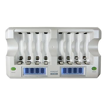 enerpad M-800L 鎳氫電池充電器 放電器 ( LCD 快速型) 8顆 8道 (可同時充放八顆 3號電池 或 4號電池 )