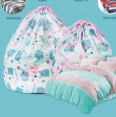 加厚印花拉繩束口洗衣袋細網護洗袋抽繩洗護袋清潔袋捆綁系繩 童趣潮品