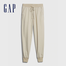 Gap女裝 活力亮色鬆緊梭織束口休閒褲 630261-灰白色