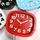 方形立體數字靜音鬧鐘(紅/藍/白/黑) -大