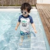 兒童泳衣 兒童泳衣男童ins分體防曬速干游泳衣寶寶大童男孩海邊沙灘褲溫泉 瑪麗蘇