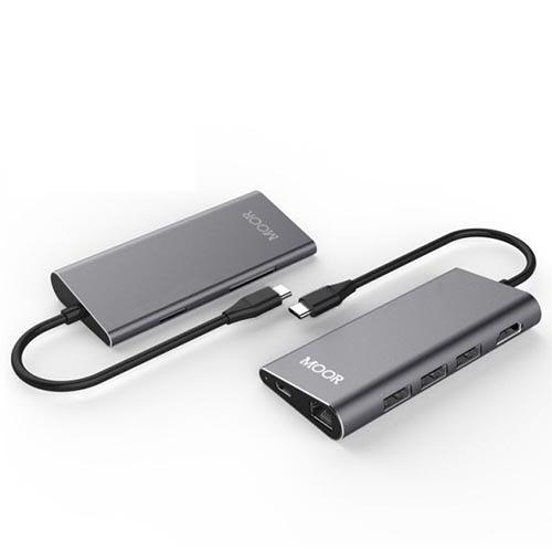 MOOR Type-C HUB HDMI RJ45 多功能集線器