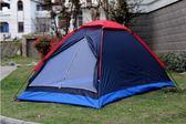 戶外運動手搭雙人帳篷野營露營野外小帳篷防風防雨透氣網紗 滿598元立享89折