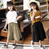 女童夏裝套裝小女孩洋氣純棉短袖兒童時髦套裝兩件套衣 東京衣秀