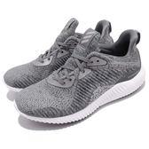 【五折特賣】adidas 慢跑鞋 Alphabounce HPC AMS W 灰 白 無縫設計 鯊魚鰓 運動鞋 女鞋【PUMP306】 DA8708