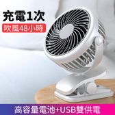 USB小風扇 迷你便攜式隨身可充電風扇掛桌面靜音夾式手持小型電扇桌上充電臺式扇