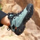 登山鞋男防水防滑徒步靴男鞋高幫越野爬山運動鞋女耐磨戶外鞋
