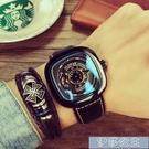 手錶男 男士手錶男錶防水全自動鏤空機械錶潮流特種兵方形大錶盤