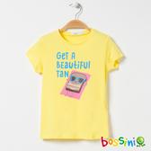 印花短袖T恤11淺黃-bossini女童