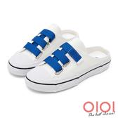 懶人鞋 懶人鞋 韓妞最愛帆布後空懶人鞋(藍)*0101shoes【18-7888b】【現貨】