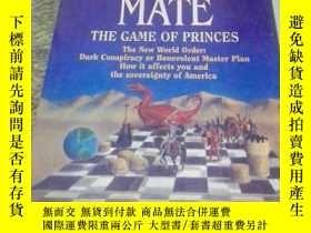 二手書博民逛書店CHEQUE罕見MATE THE GAME OF PRINCES