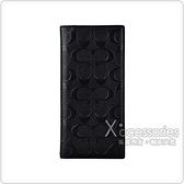 COACH滿版大CLOGO PVC 10卡長夾(黑)