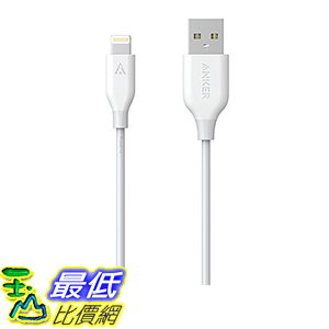 [106美國直購] Anker PowerLine Lightning (6ft) Apple MFi Certified Charging Cable White 充電線 傳輸線