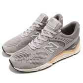 New Balance 慢跑鞋 NB X90 灰 黃 Return To Future 麂皮鞋面 全新鞋款 運動鞋 男鞋【PUMP306】 MSX90PNBD