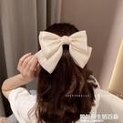 韓國真絲珠光網紅超大蝴蝶結發夾發飾女後腦勺夾子韓式一字夾頭飾 設計師生活