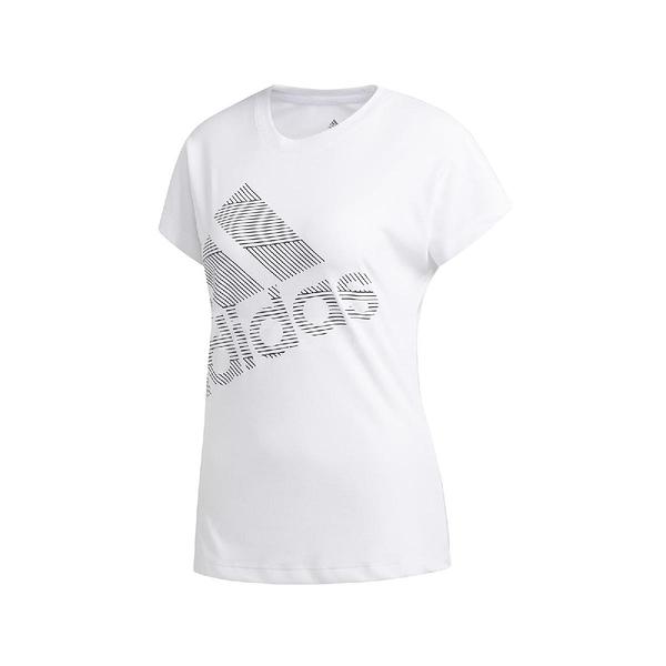 adidas 短袖T恤 Badge of Sport Tee 白 黑 女款 運動休閒 【ACS】 EB4501