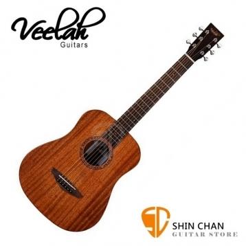 【缺貨】Veelah baby吉他 Togo-M 34吋旅行小吉他/全桃花心木/面單板(Baby吉他) 附原廠Veelah吉他袋