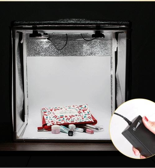 攝影棚 LED小型攝影棚套裝拍攝影燈柔光箱 莎拉嘿幼