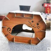 日式木紋折疊貓屋雙層貓抓板房子SMY1061【123休閒館】