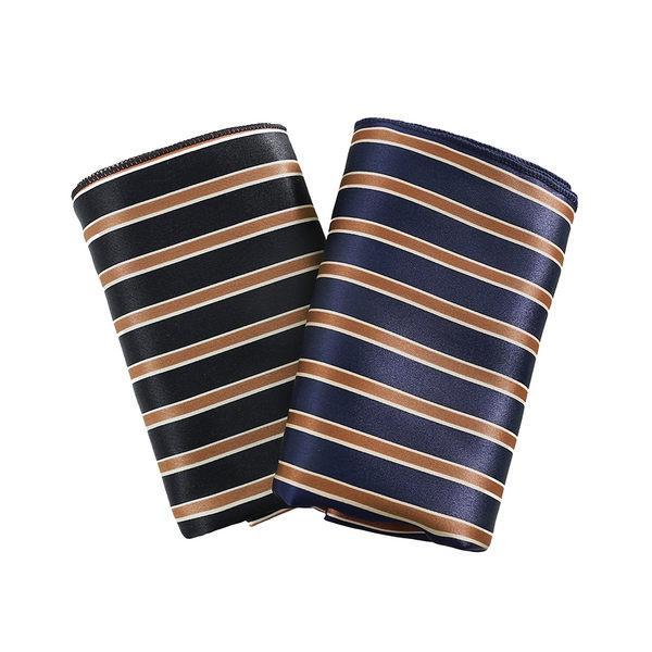 男 飾品/配件/領巾/絲巾/領帶 L AME CHIC 絲光直條紋拼色長絲巾【FDA021202】