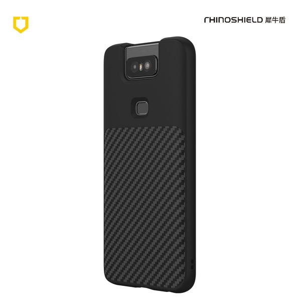 犀牛盾 SolidSuit 碳纖維防摔背蓋手機殼ASUS Zenfone 6 黑色