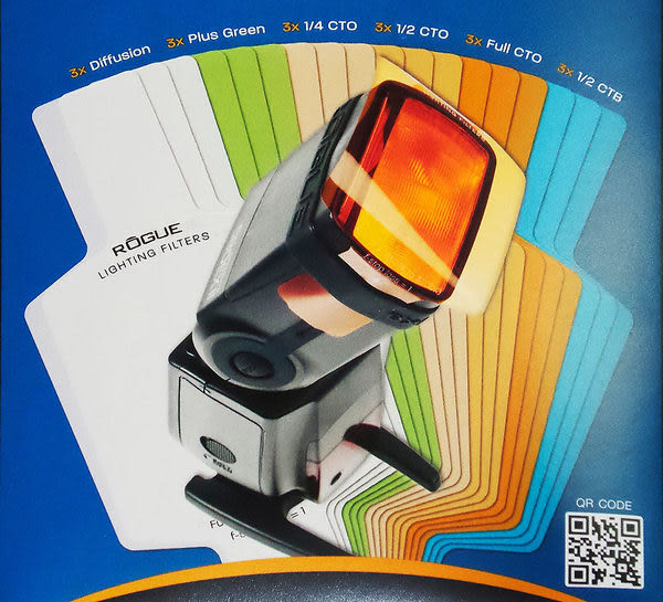 呈現攝影-Rogue 美國樂客 LF-4008 通用精選型濾色片組 六色各3 色溫片+柔光片 閃光燈專用 離機閃