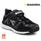 【Diadora 迪亞多那】童款 休閒慢跑鞋 -黑色(D6380)全方位跑步概念館