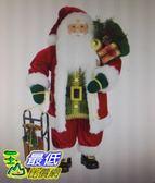 [COSCO代購] W1900273 36吋聖誕老公公附雪橇