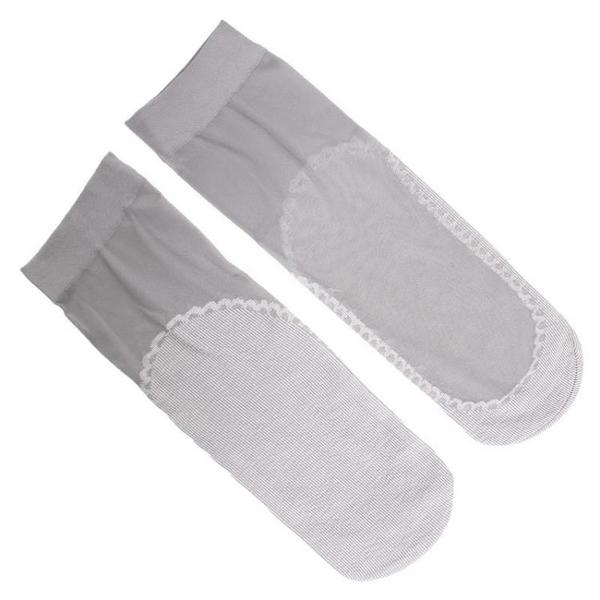 襪子女鴻思羽春秋韓版中長筒棉底水晶防勾玻璃絲吸汗