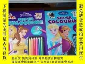 二手書博民逛書店SUPER罕見COLOURING兩本合售Y306991 迪士尼企業股份有限公司 出版2018
