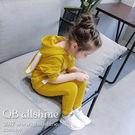 女童套裝 可愛兔子造型連帽長袖上衣+休閒運動長褲 兩件式 QB allshine