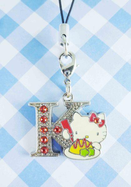 【震撼精品百貨】Hello Kitty 凱蒂貓~KITTY手機吊飾-KITTY英文字母造型-K