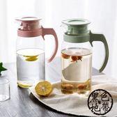 居家家麥香玻璃涼水壺果汁壺1100ml家用大容量冷水壺耐熱扎壺水壺—聖誕交換禮物