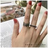韓版ins復古做舊925純銀戒指不規則音律寬指環開口泰銀食指戒個性