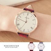 正韓JULIUS那時此刻英格蘭格紋真皮手錶對錶單支【WJA10158】璀璨之星☆