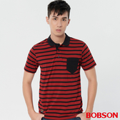 【BOBSON】男款條紋POLO上衣(28013-88)