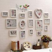 現代簡約實木照片牆 客廳臥室沙發相框牆 創意組合相片牆(16框森林童話)