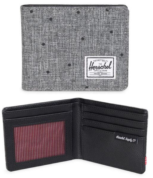 Hsin 85折 現貨 Herschel Hank Wallet 灰色 黑點 點點 帆布 皮革 皮夾 短夾 輕便 錢包