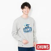 CHUMS 日本 男 Trekking Booby 圓領套頭衫 淺灰 CH001092G005