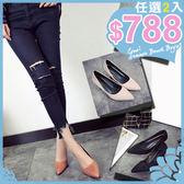 任選2雙788高跟鞋時尚優雅淑女舒適耐磨尖頭細跟高跟鞋【02S8788】