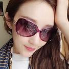 新款大框太陽眼鏡 女復古優雅潮墨鏡 百搭太陽眼鏡(無偏光)