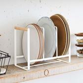 鐵藝簡約廚房盤子餐盤三格置物架餐具碟子碗碟瀝水收納架整理 【快速出貨】