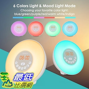 [8美國直購] 數字時鐘 Sunrise Alarm Clock, Digital Clock, Wake Up Light with 6 Nature Sounds