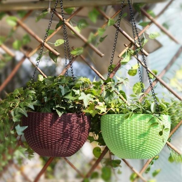 2個裝 吊盆花盆懸掛式綠蘿多肉垂吊盆懶人吊籃盆