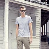 男士純色短袖T恤