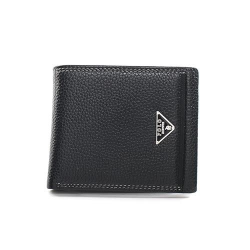 XINWEI POLO 英式設計質感壓紋經典小牛皮短夾-02029-A