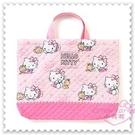 ♥小花花日本精品♥ Hello Kitty 提袋 手提袋 外出袋 棉布提袋 坐姿 小熊 粉色 星星 42156604