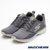 SKECHERS 男鞋 健走系列 GO WALK 4 輕量運動鞋 - 灰x綠 54680CCLM