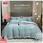 PLAY BOY-艾歐斯【綠灰】雙色搭配/100%天絲棉/300織/四件套『兩用被套+床包』6*7尺