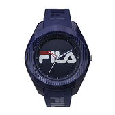 【FILA 斐樂】大錶徑簡約LOGO造型腕錶-神秘藍/38-160-005/台灣總代理公司貨享兩年保固